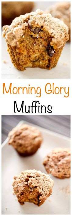 Clean out your pantry with these healthy morning glory muffins. We call these healthy morning glory muffins kitchen sink muffins in our house. Biscuit Muffin Recipe, Muffin Tin Recipes, Healthy Muffin Recipes, Quick Bread Recipes, Real Food Recipes, Baking Recipes, Coffee Recipes, Cake Recipes, Breakfast On The Go