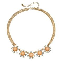 I BOUGHT THIS!! :D ~QUEEN R.   LC Lauren Conrad Cabochon Multistrand Necklace