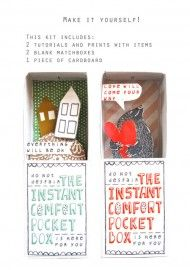 DIY instant comfort pocket boxes by Kim Welling.