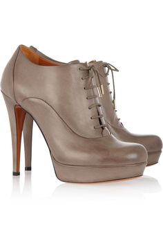 Gucci|Lace-up leather ankle boots|NET-A-PORTER.COM ~lace-up booties are so hot