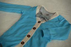 Blue Cardigan Onesie Bodysuit Bow Tie Set 9 months by SimpleSawyer, $30.00