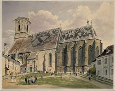 The Athenaeum - Cathedral in Pressburg (Rudolf von Alt - )