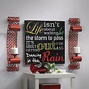 Life Wall Plaque and Set of 2 Red Sconces $29.95 - $69.95