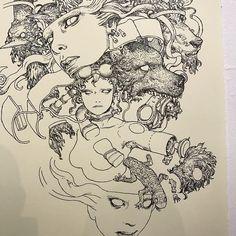 continue drawing terra's Manga Girls Show  Open DEC 17 - JAN 11 GR2 gallery.  L.A