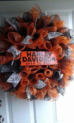 Harley-Davidson deco mesh wreath $45.00