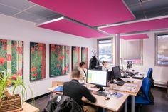 Fabrication & traitement de panneaux acoustiques pour vos bureaux !