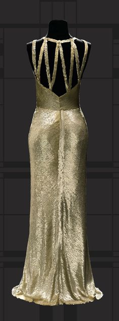 1931 Chanel, Sequin evening dress - Design by Gabrielle Coco Chanel - Worn by Gloria Swanson - Vintage 1930's Chanel - Musée du Costume et de la Dentelle - Museum of Costume and Lace