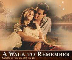 A Walk To Remember.  This movie touched me in such a big way.  I watched it over and over again and then I read the book.  Even though the book was not near as good as the movie (IMHO) I still couldn't put it down.  I cried during the movie and then watched it again.  It's such a beautiful story.  One of my all time faves.  LOVE it!  Very spiritual and I'm not an overly religious person!