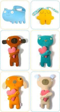 super ke každé hračce udělat dlouhé ruce a do nich něco pro ně typické (králík-mrkev, pes-kost, pták-červ, vosa-kytka, koza-trs trávy, nebo hilarious: liška-budulínek, vlk-karkulka, atd)