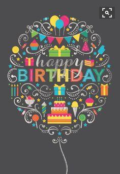 Happy Birthday deco balloon o. Birthday Blessings, Birthday Wishes Cards, Bday Cards, Happy Birthday Messages, Happy Birthday Greetings, Happy Birthday Pictures, Happy Birthday Funny, Happy Birthday Quotes, Birthday Love