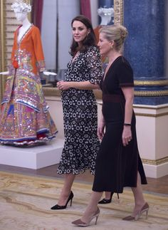 Catherine, Duchess of Cambridge and Sophie, The Countess of Wessex attend The Commonwealth Fashion Exchange Reception at Buckingham Palace on February 19, 2018 in London, England. - 39 of 60