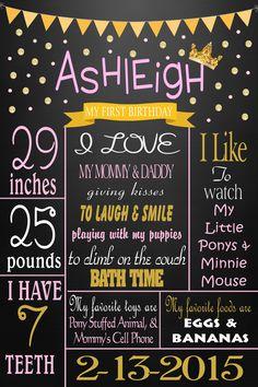 pink & gold milestone poster