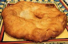 Indian Fry-bread   this one is made with baking powder. Also called elephant ears. Makes great Navajo tacos!!