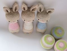 Bunny rattle + Ball - Crochet Pattern by {Amour Fou}