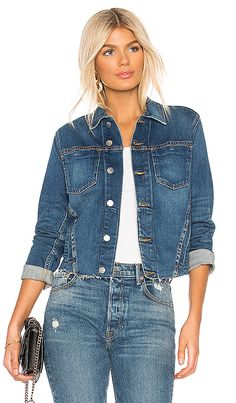 Shop for L'AGENCE Janelle Jacket in Authentique at REVOLVE. Stylish Outfits, Cool Outfits, Fashion Outfits, Womens Fashion, Revolve Clothing, Women's Clothing, Jeans Style, Casual Looks, Denim Jeans