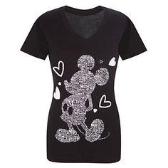 V-Neck I Love Mickey Mouse Tee -- DISNEY STORE