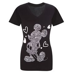 V-Neck I Love Mickey Mouse Tee -- DISNEY STORE