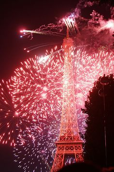 Fireworks at the Eiffel Tower - Bastille Day | Flickr - Photo Sharing!