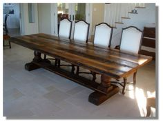 TABLES- RECLAIMED ANTIQUE WOOD DINING TABLE.jpg 547×419 piksel