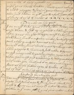 Recipes ~ 1682