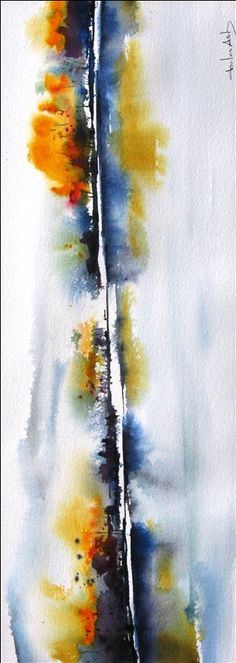 Buy Original Art by Charles Ash | watercolor painting | Autumn on the River at UGallery
