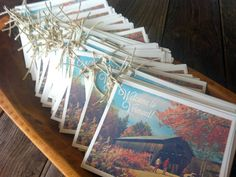 Vermont Wedding Welcome Packs, great idea to have for out-of-towners who may want to visit other areas!