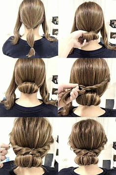 Check out our collection of easy hairstyles step by step diy. You will get hairs. - - Check out our collection of easy hairstyles step by step diy. You will get hairstyles step by step tutorials, easy hairstyles quick lazy girl hair hac. Medium Hair Styles, Curly Hair Styles, Easy Updos For Medium Hair, Medium Length Hair Updos, Buns For Short Hair, Updos For Medium Length Hair Tutorial, Easy Upstyles For Medium Hair, 1950s Hairstyles For Long Hair, Updos For Thin Hair