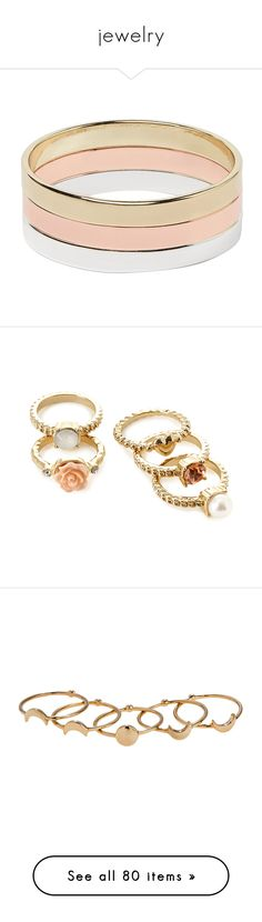 """""""jewelry"""" by nglmfrryln ❤ liked on Polyvore featuring jewelry, rings, bracelets, accessories, multi, metal rings, metal jewelry, metal jewellery, band rings and heart shaped rings"""
