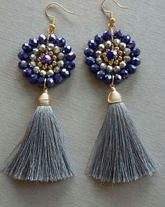 Now these tassel earrings are on another level. #earrings #jewelry #jewelrymakig #jewelryinspo #cbloggers #diy