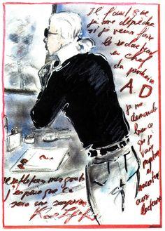 Karl Lagerfeld dessiné ( très bien dessiné )