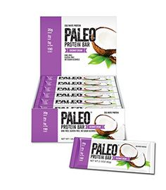 Paleo Protein Bar® Coconut Cream 12 Bars Egg White Protein 5 Net Carbs Organic Prebiotics/Probiotics -- For more information, visit image link. (This is an affiliate link and I receive a commission for the sales) Paleo Protein Bars, Whey Protein, Julian Bakery, Protein Meal Replacement, Egg White Protein, Paleo For Beginners, Prebiotics And Probiotics, Sweet Potato Chips, Creamed Eggs