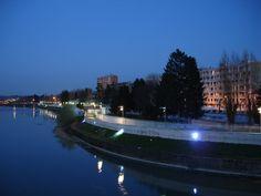 Passeggiata serale sul Lungotanaro (Alessandria)