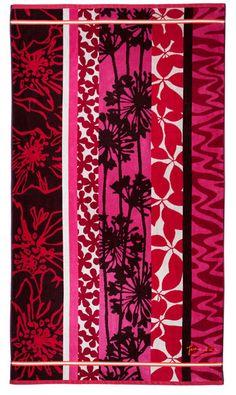 Jean Vier Belharra fruits rouges Paint Color Schemes, Paint Colors, French Brands, Beach Towel, Towels, Textiles, Pattern, Baby, Painting