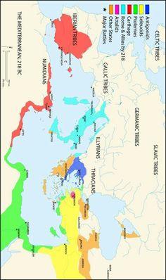 The Mediterranean Sea, 218 BC
