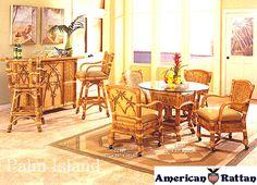 Palm Island Dining Room Set   Capris Furniture Caster Dining Series 667