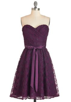 Dancing Upon Air Dress in Plum. Zipping yourself into this fabulous mulberry-hued party dress will make you feel lavish for tonights soiree. #gold #prom #modcloth