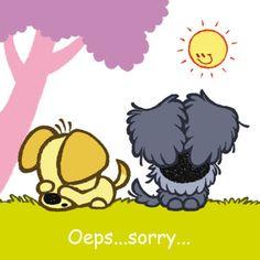 Woezel en Pip zeggen sorry.