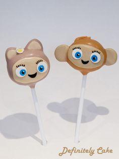 De Li and Yojojo from Waybuloo cake pops