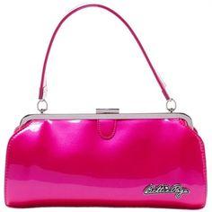 Image of Sourpuss Bettie Page Cover Girl Pink Bag Handbag Rockabilly Retro Purse Pin Up