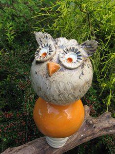 Gartenfiguren - Keramikstele,  Kugeln, Rebholz - ein Designerstück von ceramiche bei DaWanda