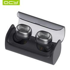 Qcy q29 airpods negocio 3d estéreo auriculares auriculares auriculares bluetooth inalámbrico y el banco de potencia para iphone 6 7 android samsung