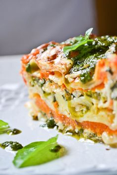 Vegetarian Lasagna - scroll down for English Raw Food Recipes, Veggie Recipes, Wine Recipes, Italian Recipes, Vegetarian Recipes, Cooking Recipes, Healthy Recipes, Vegetarian Lasagne, Veggie Lasagna