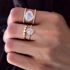 cute rings, Personalized stacking rings http://www.justtrendygirls.com/personalized-stacking-rings/