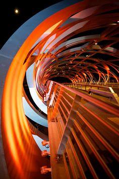 Hans-Wilsdorf Pedestrian Bridge, Genève, Switzerland designed by Atelier d'architecture Brodbeck-Roulet