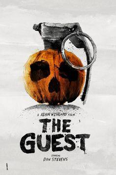 The Guest (2014) starring Dan Stevens and Maika Monroe. Directed by Adam Wingard. Rad Granade Pumpkin Poster by Daniel Norris.