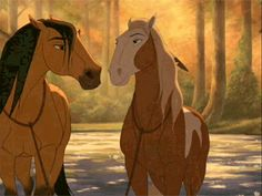 Screencap Gallery for Spirit: Stallion of the Cimarron Bluray, Dreamworks). The mustang stallion Spirit grows up to proudly succeed his father as leader of the Cimarron herd in the unspoiled Wild West. Spirit Horse Movie, Spirit The Horse, Spirit And Rain, Dreamworks, Rain Tattoo, Disney Horses, Mustang, Rain Gif, Horse Movies