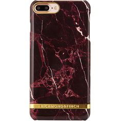 Red Marble Glossy iPhone 7 Plus ($59) ❤ liked on Polyvore featuring accessories, tech accessories, phone and phone cases