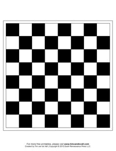 Printable Chess Boards    - #DRAW #ZENTANGLE #ZENDALA #TANGLE #DOODLE #TEMPLATE #VORLAGEN