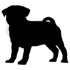 Resultado de imagen para silueta perro pug