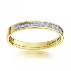 9ct Yellow Gold  3mm Round 0.15 carat Diamond Eternity Wedding Ring